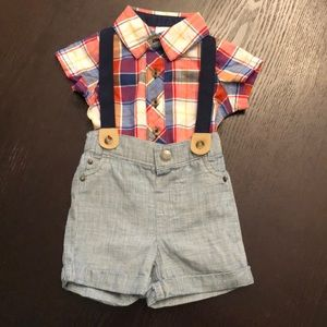 Cat & Jack Outfit with Suspenders Newborn